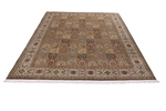 10x8 tile design silk kashmir persian rug