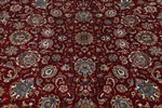 10x8 red color silk kashmir rugs