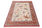 6x4 pictorial hunting qum persian rug