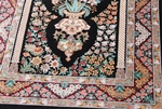 4x3 signed silk qum persian rug