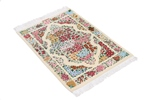 3x2 750kpsi genuine silk qum rug