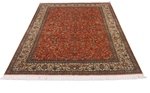 6x4 light red silk handmade fine persian rug