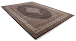 13x9 wool persian rug with silk highlights