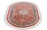 4x2 oval silk qom persian rug