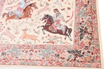 5x3 pictorial hunting qum persian rug