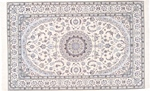 7x5 signed silk nain persian carpet