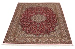 6x4 handmade red silk kashmir persian carpet