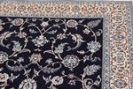 6x4 blue silk nain persian rug