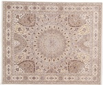 10x8 gonbad persian rug with silk