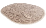 11x7 oval wool persian rug with silk highlights