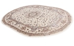 11x8 oval wool persian rug with silk highlights