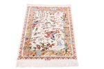 3x2 pictorial hunting qum persian rug