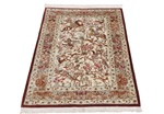 4x2 pictorial hunting qum persian rug