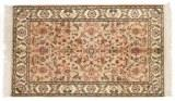 3x2 brown silk kashmir persian rug