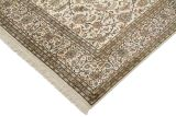 8x5 beige silk kashmir persian carpet