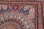 6x5 gonbad tabriz rug with silk