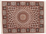 5x3 gonbad tabriz rug with silk