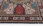 9x6 wool persian rug with silk highlights