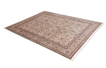 10x8 beige brown silk kashmir persian rug