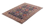 4x3 tabriz persian rug with silk