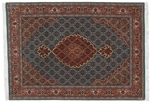 4x3 tabriz mahi persian rug with silk