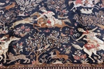 9x6 pictorial hunting qum persian rug