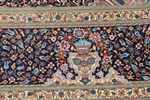 square silk qom persian rug