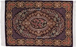 3x2 signed silk qum persian rug