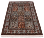 5x3 tile design silk kashmir persian carpet