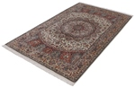 6x4 light color gonbad silk persian rug