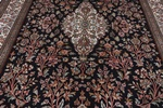 6x4 dark floral keshmir silk persian carpet