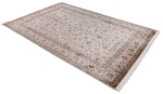 light colored silk kashmir persian rug