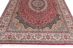 10x7 red color silk kashmir rugs