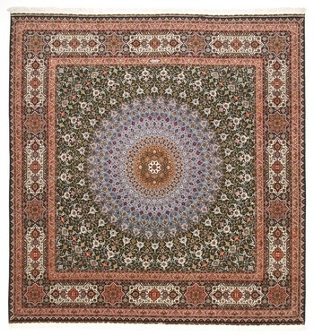Round, square and fine Tabriz Persian rug; Tabriz Persian Rugs in all shapes and sizes