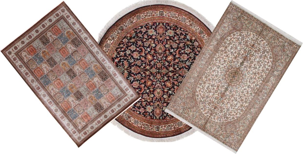 Kashmir Rugs - Kashmir Silk Carpets