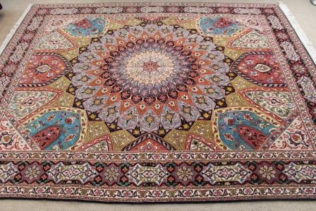 8x6 Jafari Gonbad Tabriz Persian rug. Dome Design Gombad Tabriz Persian carpet.