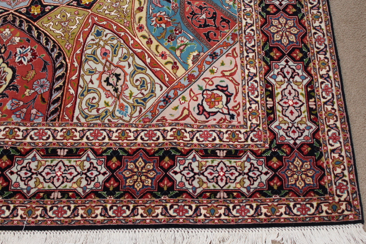 8x6 Jafari Gonbad Tabriz Persian rug. Dome Design Gombad Tabriz Persian carpet.