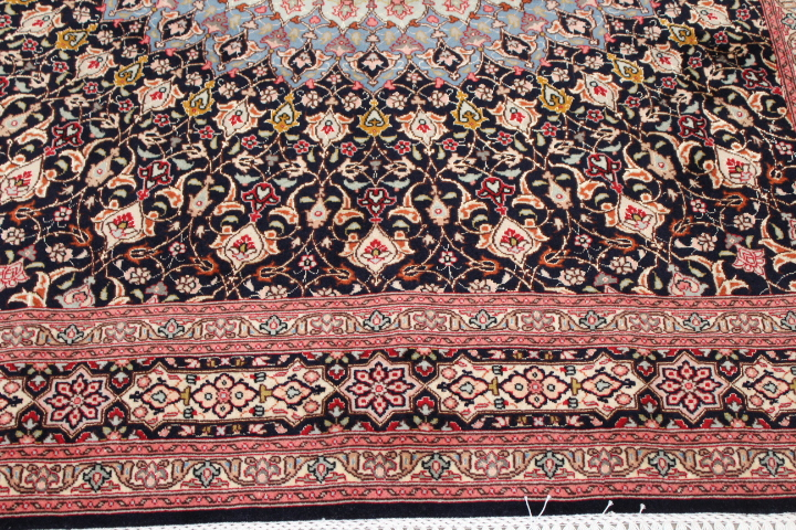 6x5 Gonbad Tabriz Persian rug. Dome Design Gombad 50Raj silk Tabriz Persian carpet.