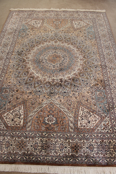 Silk Gonbad Persian rug #1282, indian tabriz silk gombad Persian carpets.