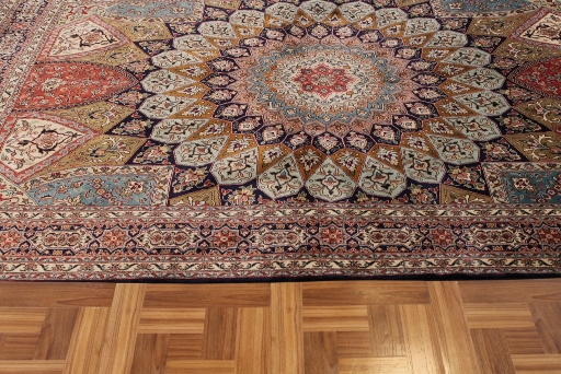 7x5 Gonbad Indian Tabriz Persian rug; medium size silk Persian Rugs genuine handmade. gombad keshmir silk carpet.