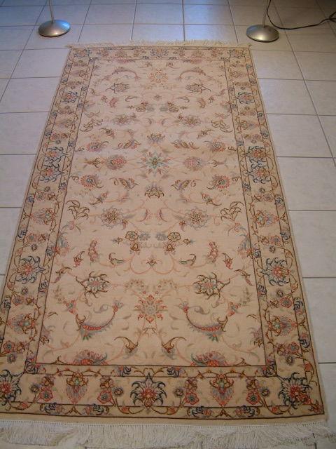 Tabriz Persian rug #1168, click on the picture or description for more details about the Persian carpets.