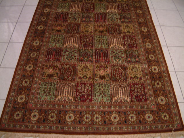 Qom Persian rug #1176, click on the picture or description for more details about the Persian carpets.