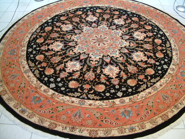 Tabriz Persian rug #1207, click on the picture or description for more details about the Persian carpets.