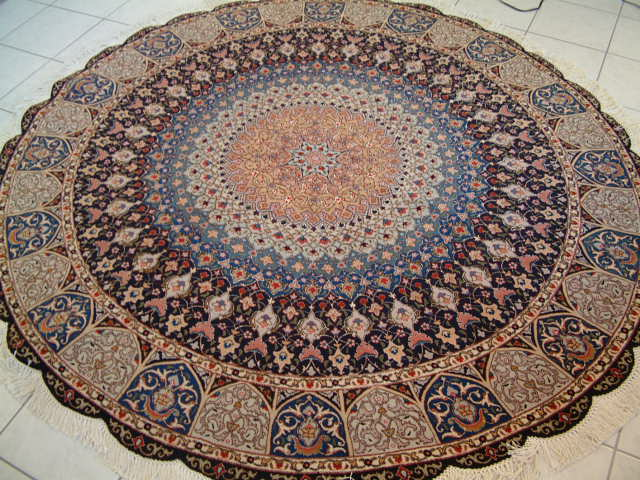 Tabriz Persian rug #1212, click on the picture or description for more details about the Persian carpets.