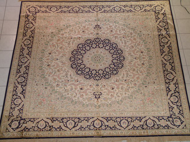 Qom PURE SILK Persian rug #1216, click on the picture or description for more details about the Persian carpets.