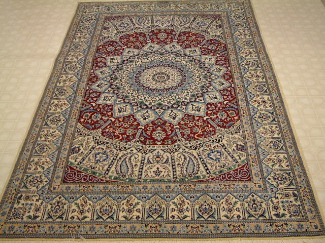 Nain Persian rug #1222, click on the picture or description for more details about the Persian carpets.