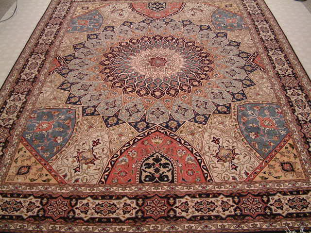 Tabriz Persian rug #1229, click on the picture or description for more details about the Persian carpets.