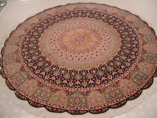 Tabriz Persian rug #1230, click on the picture or description for more details about the Persian carpets.