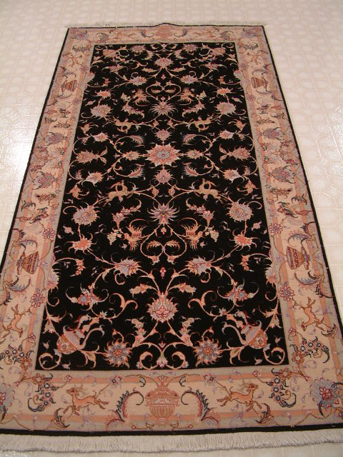 Tabriz Persian rug #1232, click on the picture or description for more details about the Persian carpets.