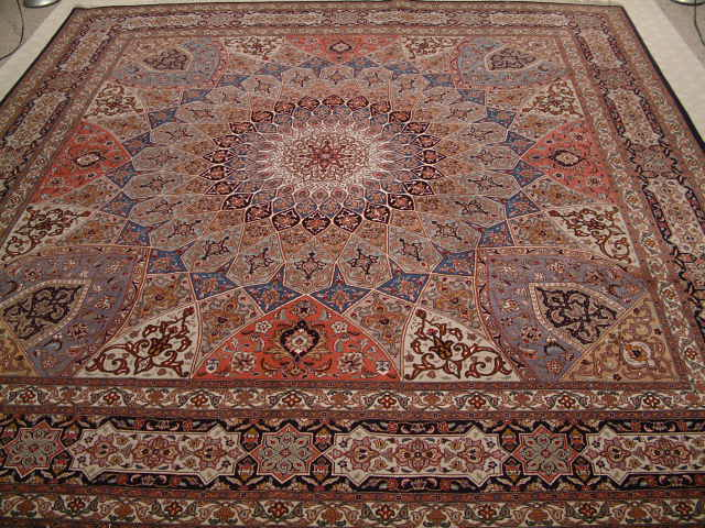 Tabriz Persian rug #1234, click on the picture or description for more details about the Persian carpets.